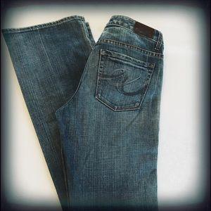 Express Women's Blue Mia Boot Leg Size 6L